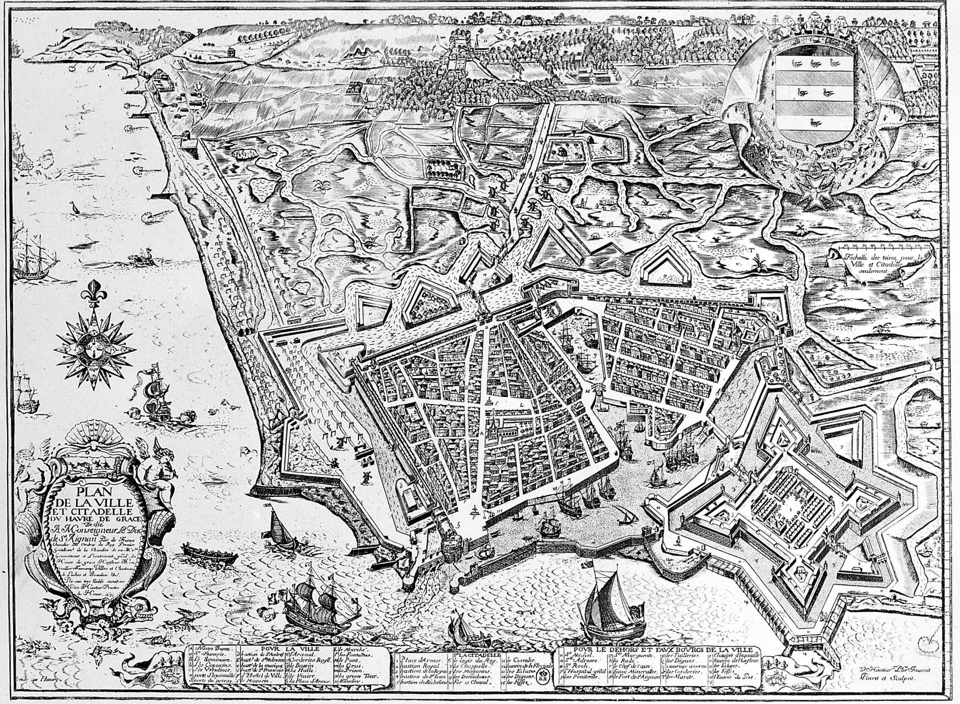 Plan enceinte et citadelle 1671