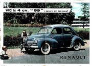 Renault la 4 cv encore du nouveau pub papier en couleur de 1955
